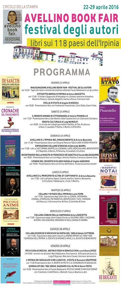 """Il 24 aprile """"Solo una storia privata"""" è all'Avellino Book Fair di Arturo Bascetta Editore. Alle ore 11.30 vi aspetto al Circolo della Stampa di Avellino, che ospita la manifestazione dal 22 al 29 aprile."""